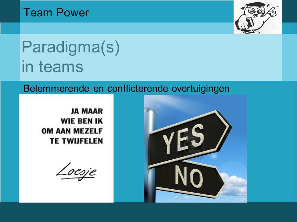 Paradigma(s) in teams Team Power