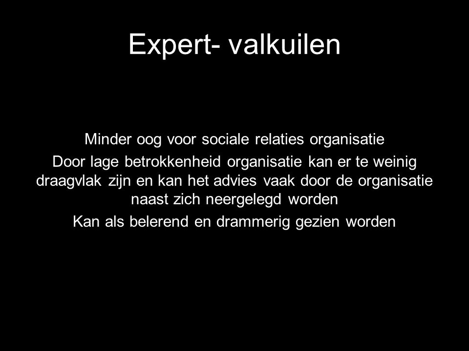 Expert- valkuilen