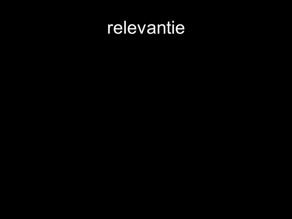 relevantie