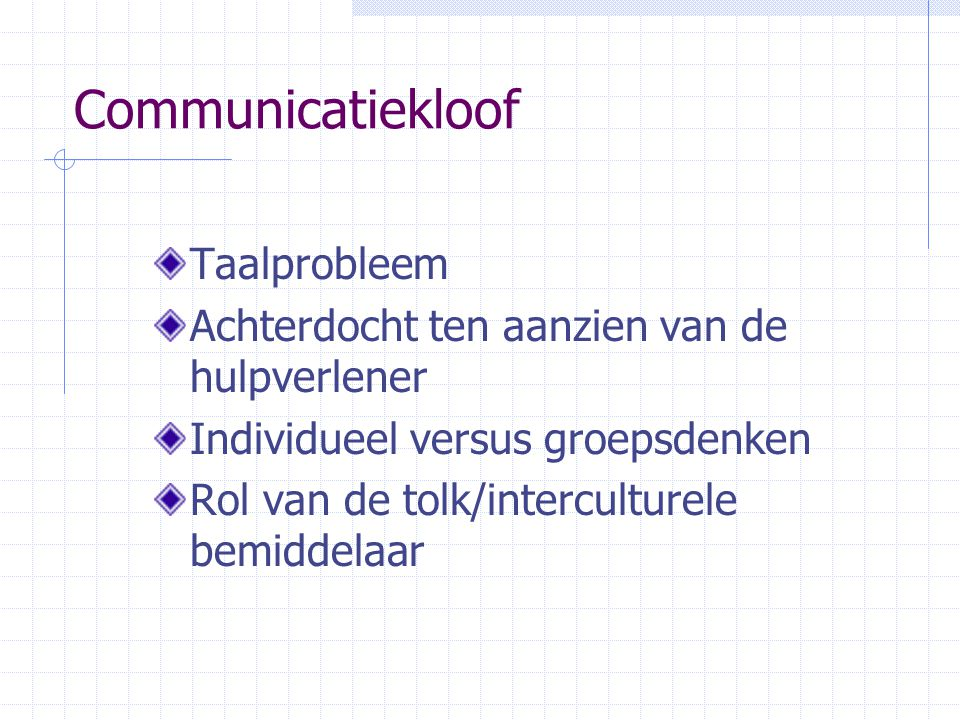 Communicatiekloof Taalprobleem