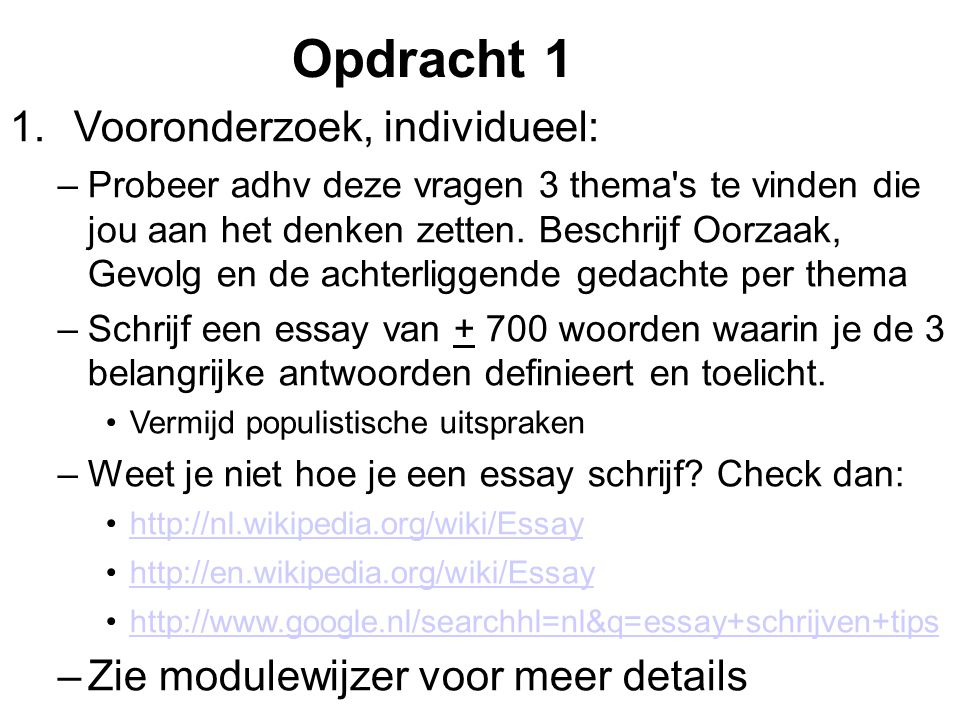 opdracht 1 2 3 asm essay Search the world's information, including webpages, images, videos and more google has many special features to help you find exactly what you're looking for.