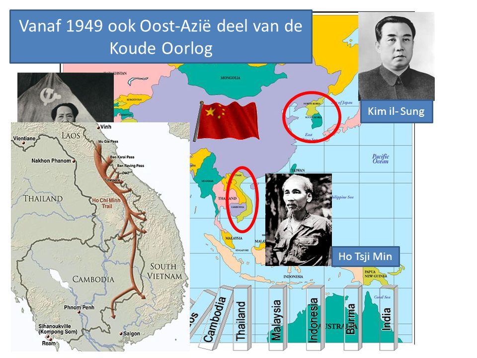 Vanaf 1949 ook Oost-Azië deel van de Koude Oorlog
