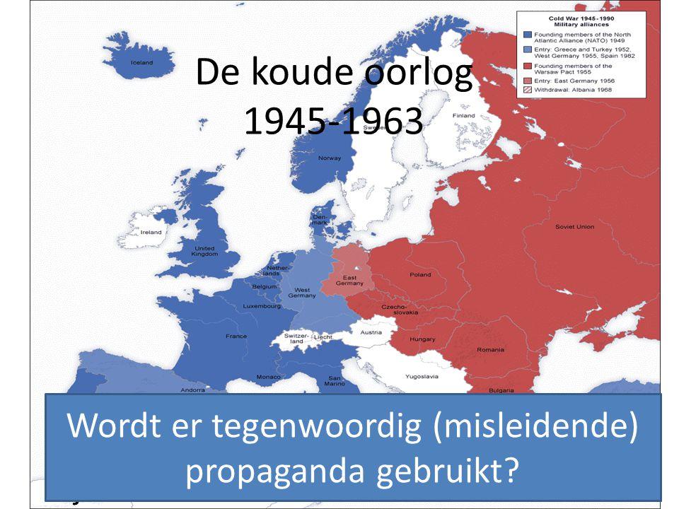 Wordt er tegenwoordig (misleidende) propaganda gebruikt