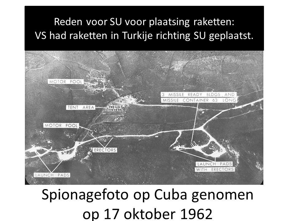 Spionagefoto op Cuba genomen op 17 oktober 1962