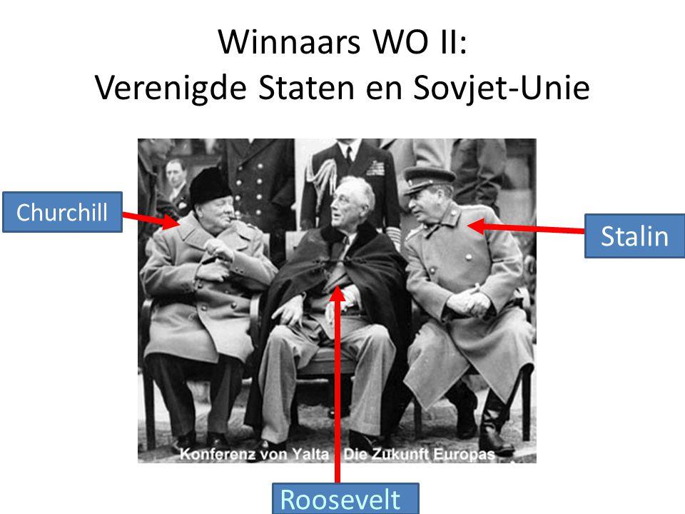 Winnaars WO II: Verenigde Staten en Sovjet-Unie
