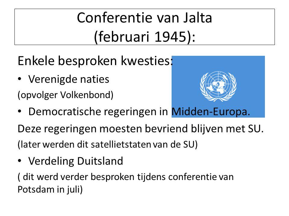 Conferentie van Jalta (februari 1945):