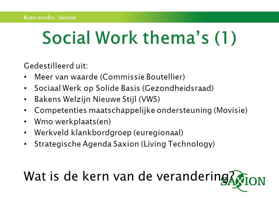 Social Work thema's (1) Wat is de kern van de verandering