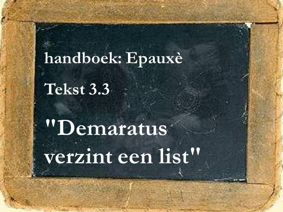 Demaratus verzint een list