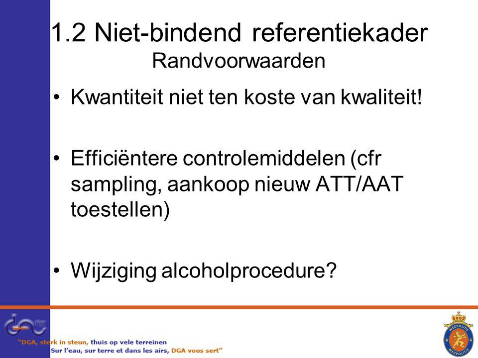 1.2 Niet-bindend referentiekader Randvoorwaarden