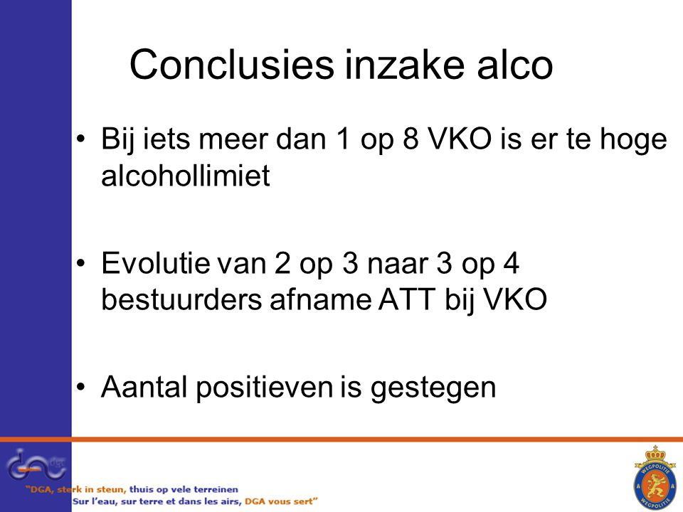 Conclusies inzake alco
