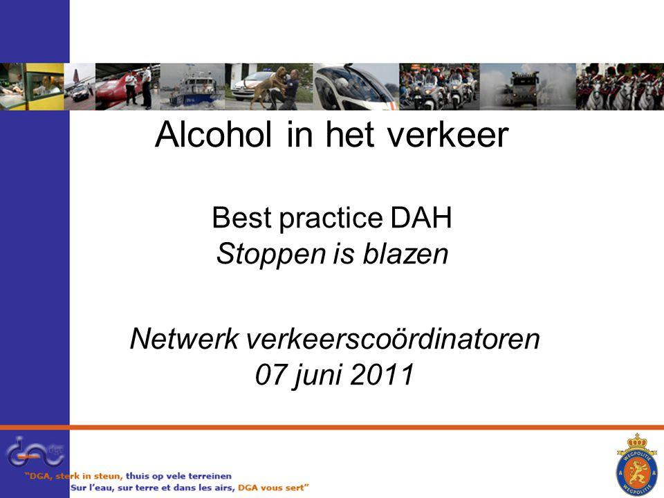 Alcohol in het verkeer Best practice DAH Stoppen is blazen