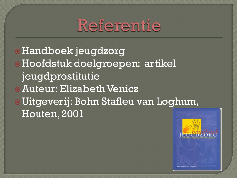 Referentie Handboek jeugdzorg