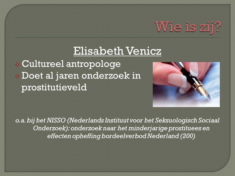 Wie is zij Elisabeth Venicz Cultureel antropologe