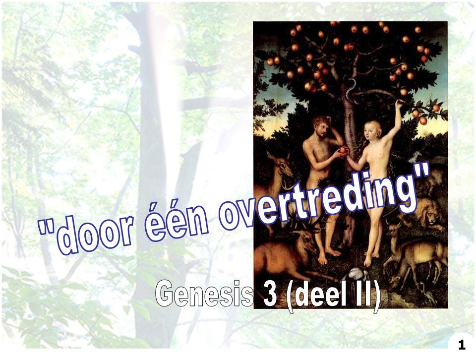 door één overtreding Genesis 3 (deel II) 1