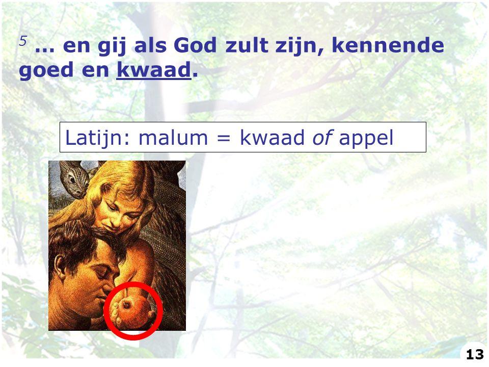 5 … en gij als God zult zijn, kennende goed en kwaad.