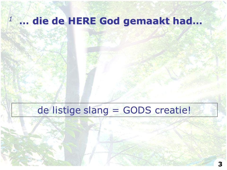 de listige slang = GODS creatie!
