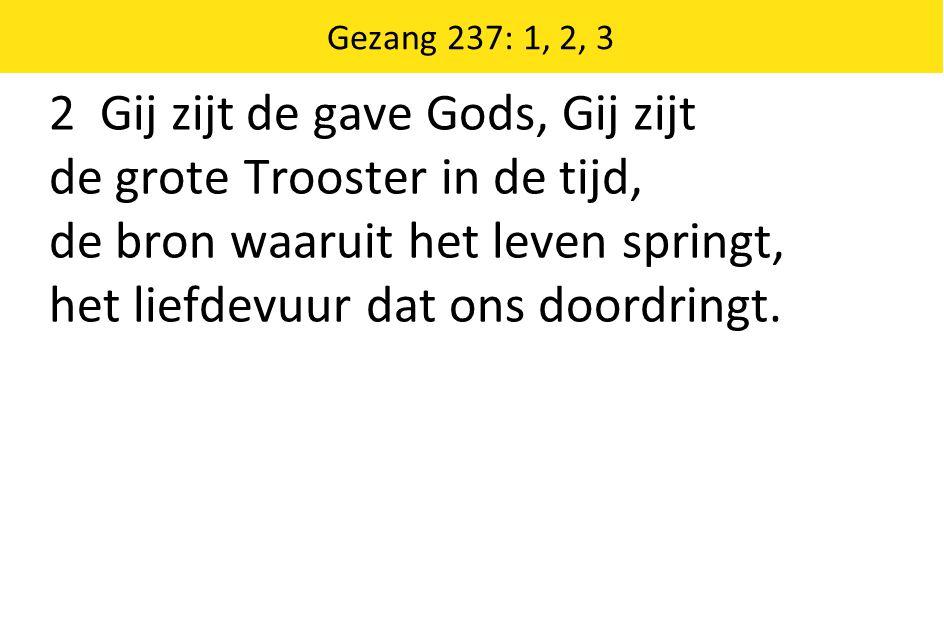 2 Gij zijt de gave Gods, Gij zijt de grote Trooster in de tijd,
