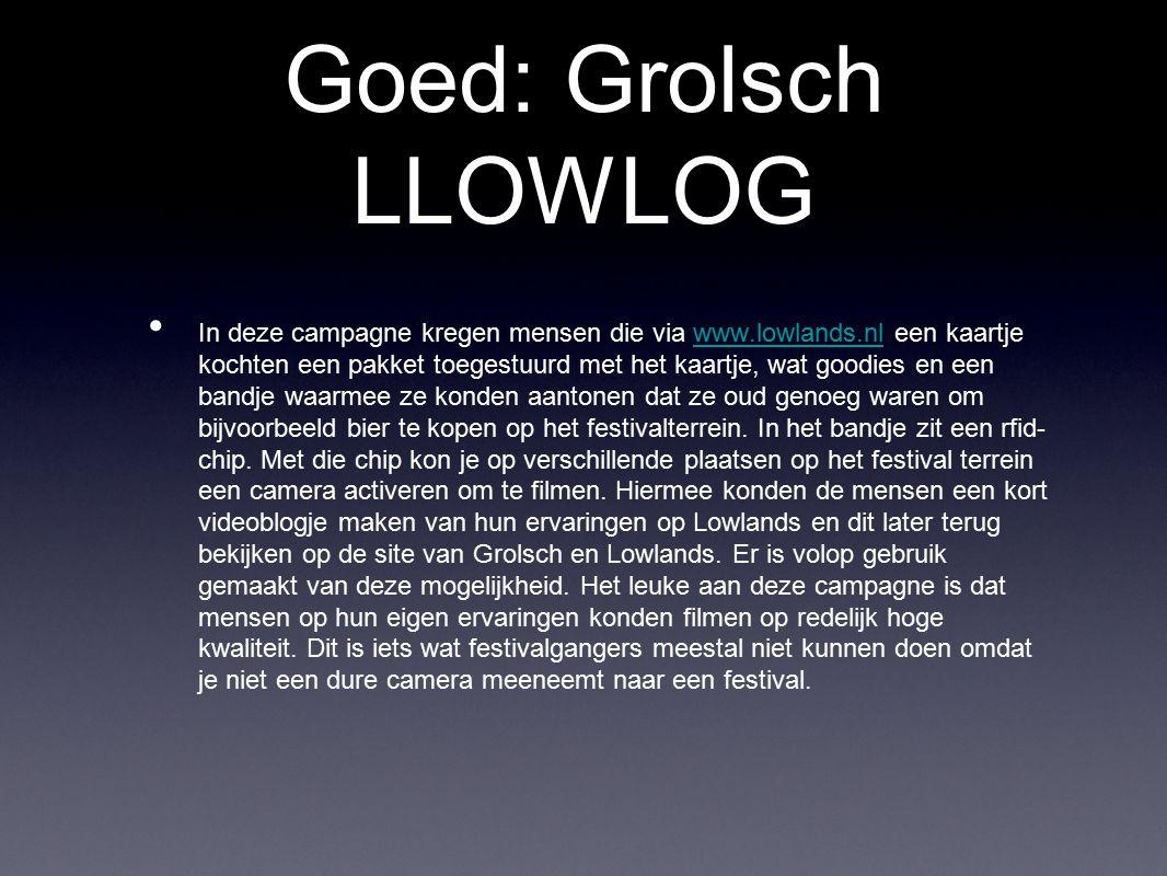 Goed: Grolsch LLOWLOG