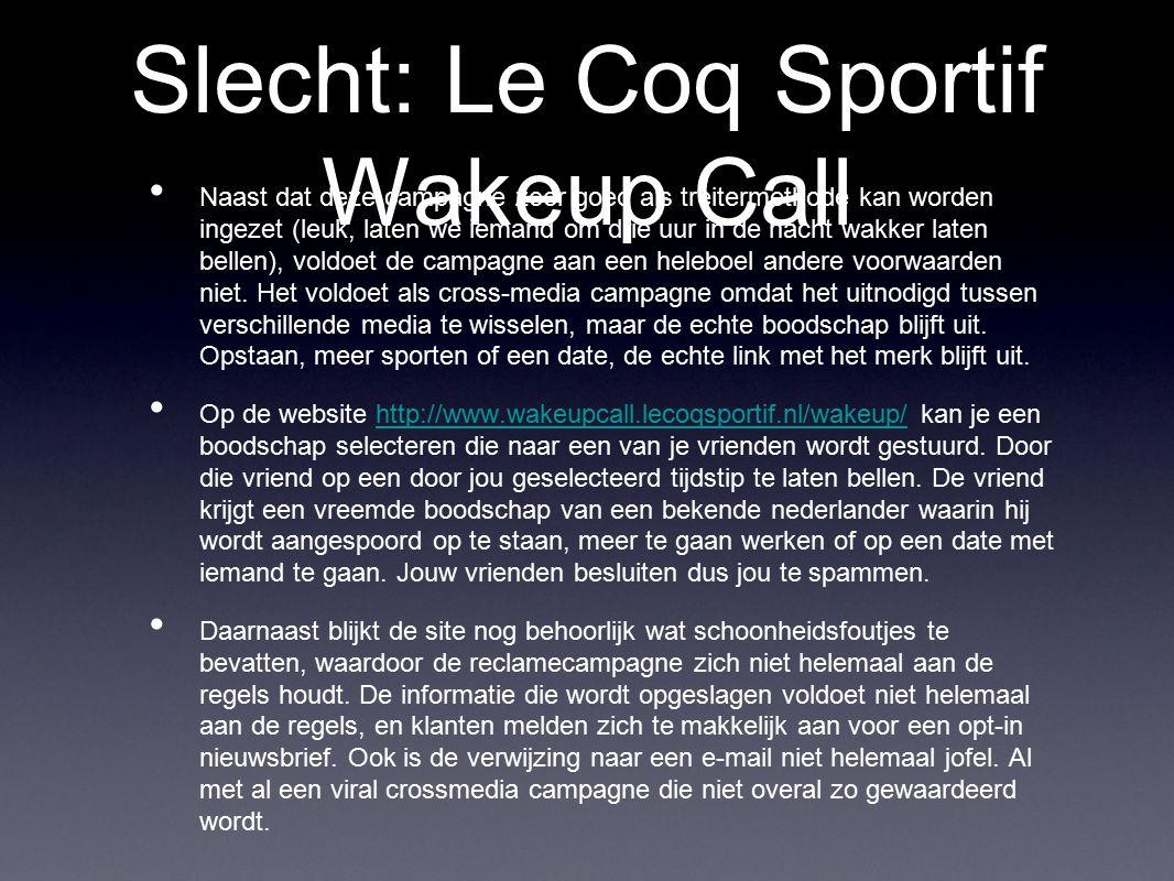 Slecht: Le Coq Sportif Wakeup Call