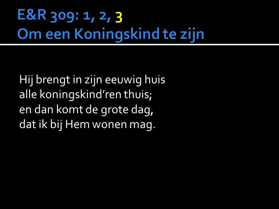 E&R 309: 1, 2, 3 Om een Koningskind te zijn