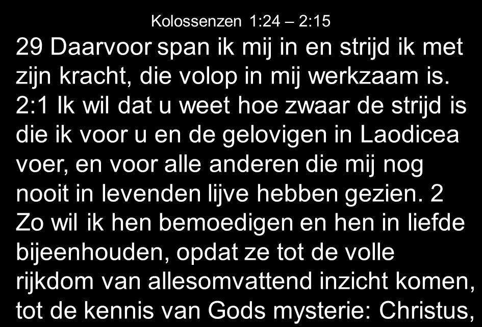 Kolossenzen 1:24 – 2:15