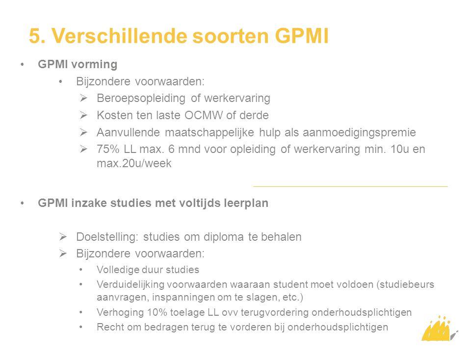5. Verschillende soorten GPMI