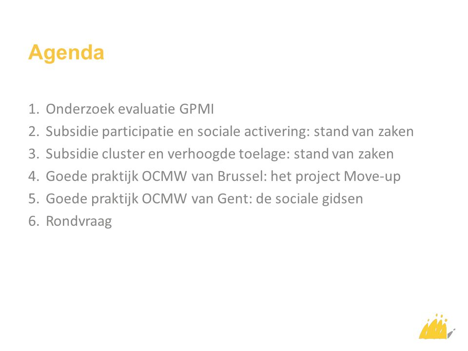Agenda Onderzoek evaluatie GPMI