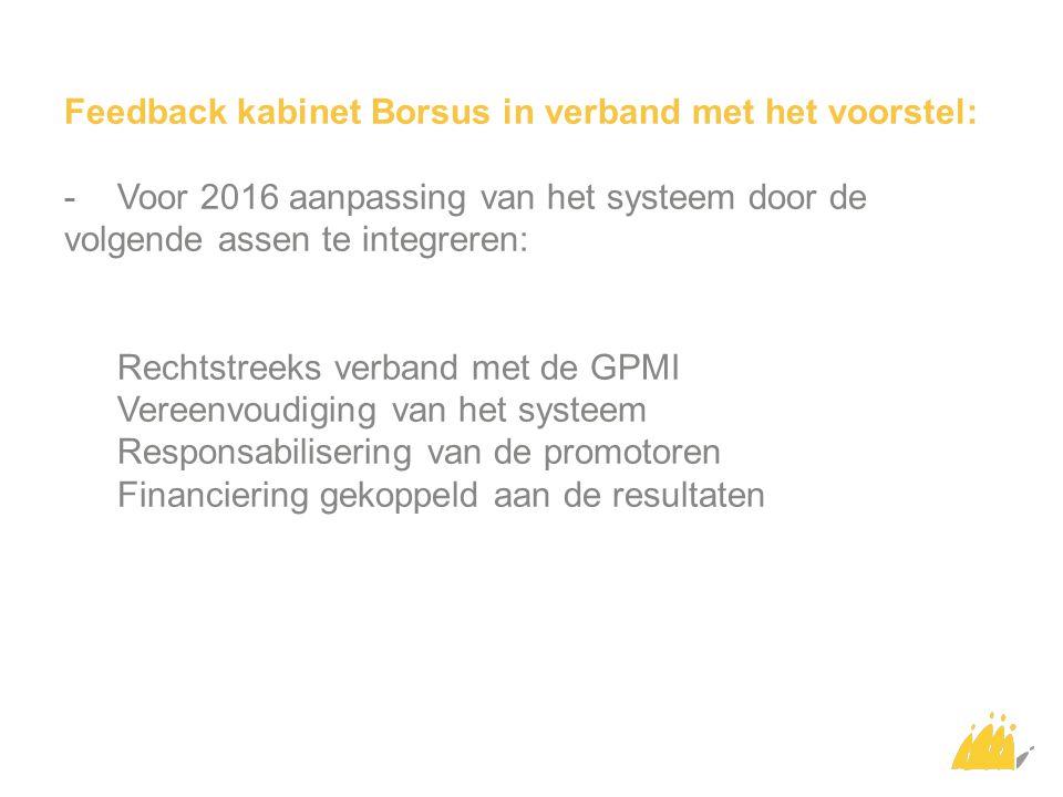 Feedback kabinet Borsus in verband met het voorstel: -