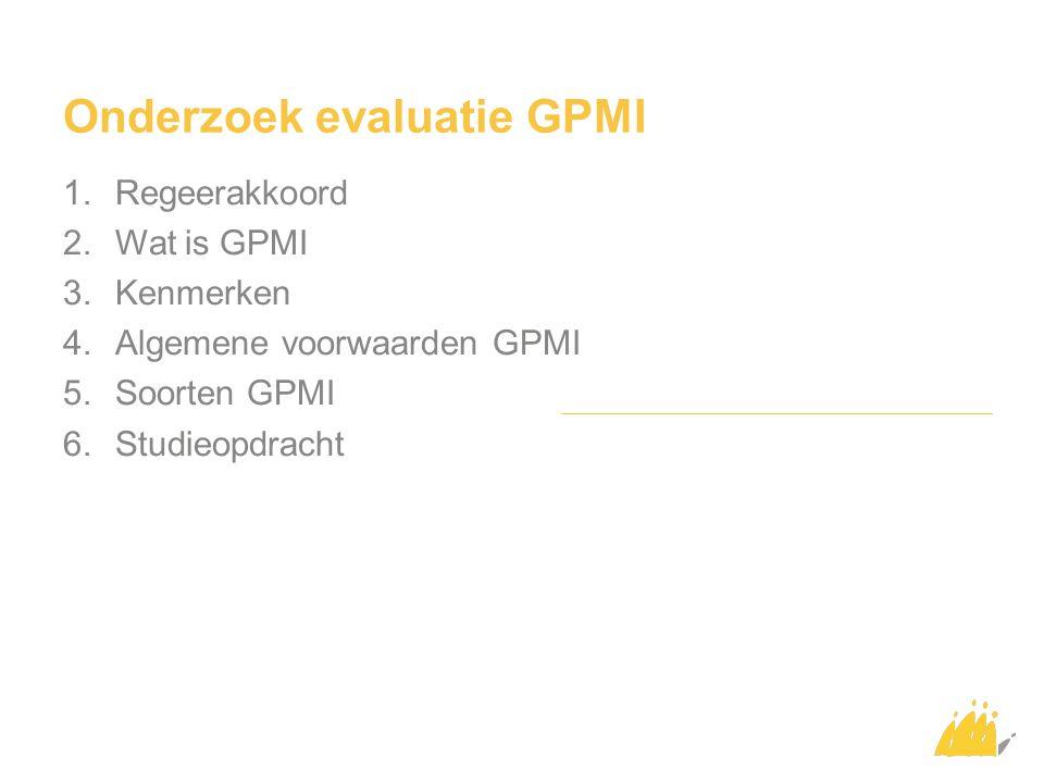 Onderzoek evaluatie GPMI