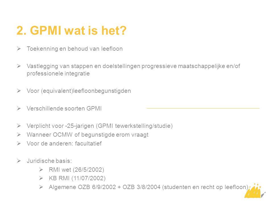 2. GPMI wat is het Toekenning en behoud van leefloon
