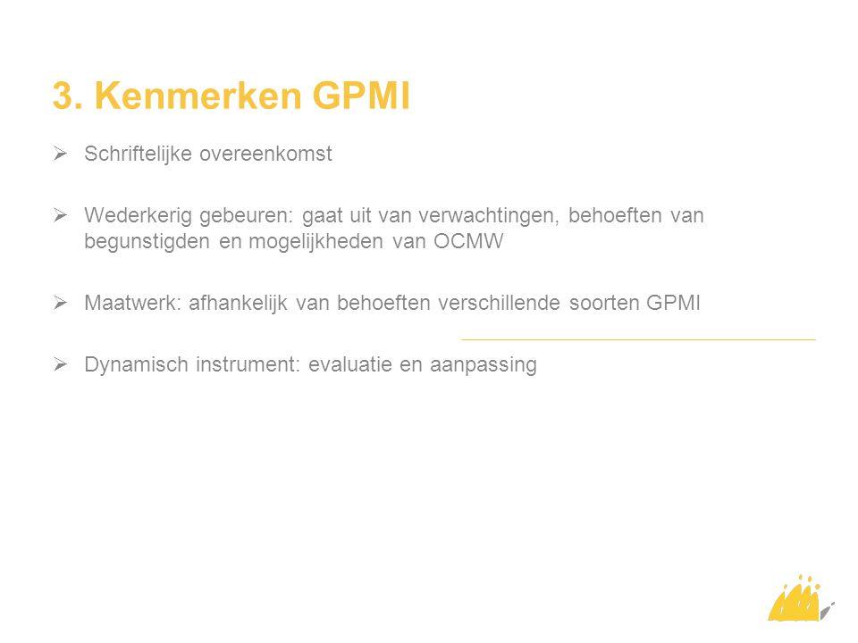 3. Kenmerken GPMI Schriftelijke overeenkomst
