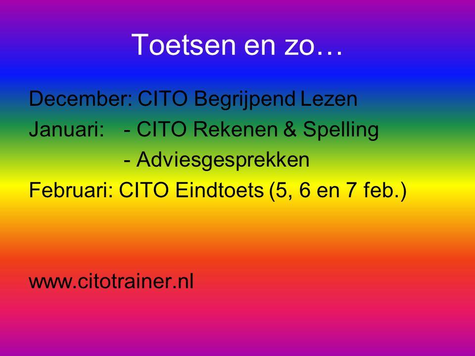 Toetsen en zo… December: CITO Begrijpend Lezen