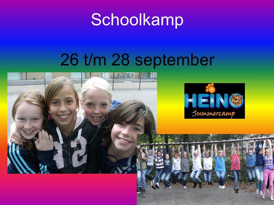 Schoolkamp 26 t/m 28 september