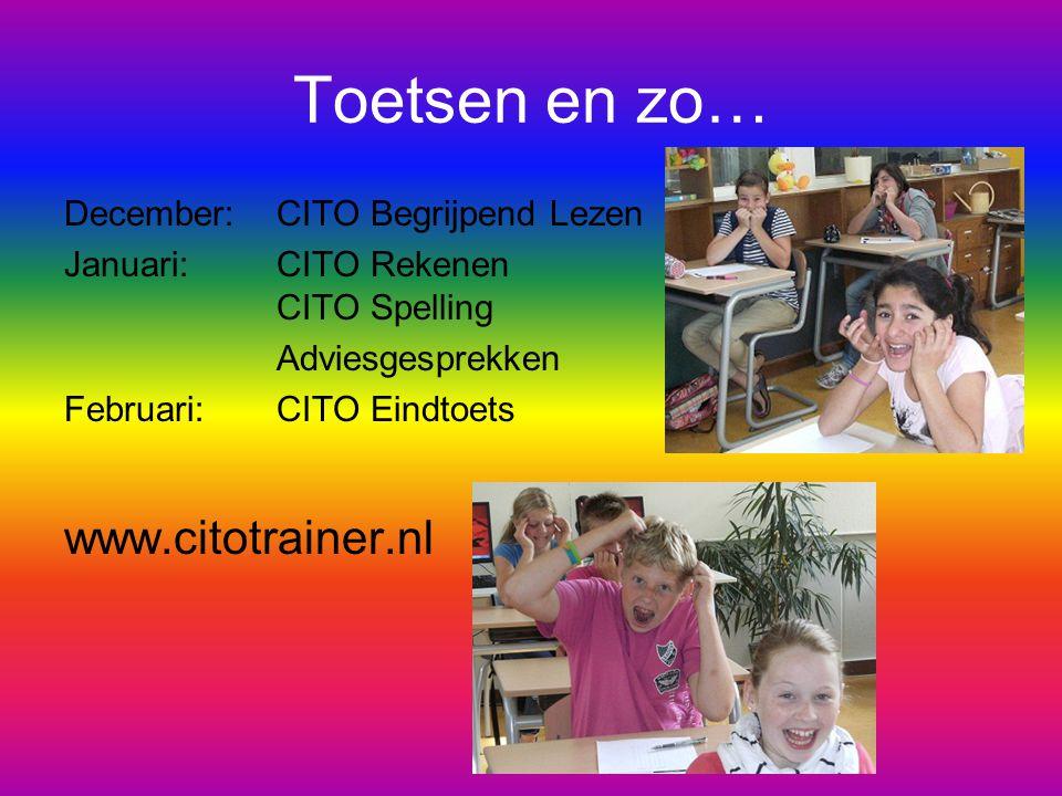Toetsen en zo… www.citotrainer.nl December: CITO Begrijpend Lezen