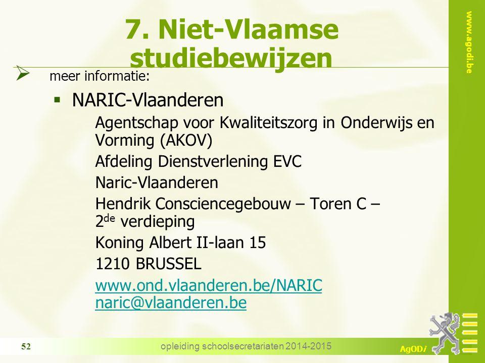 7. Niet-Vlaamse studiebewijzen