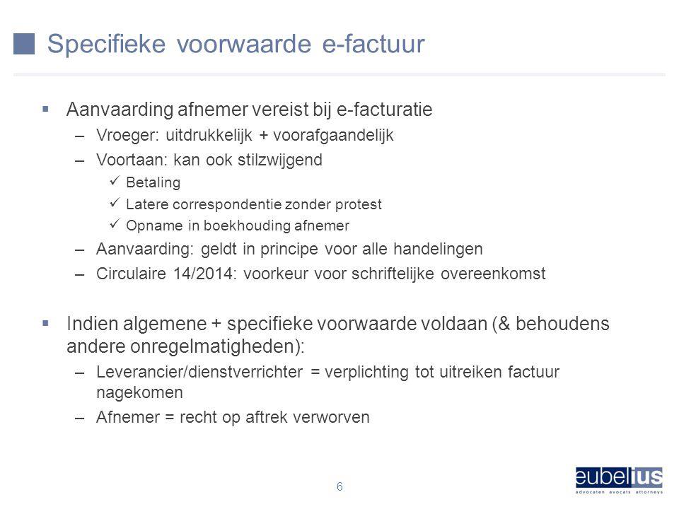Specifieke voorwaarde e-factuur