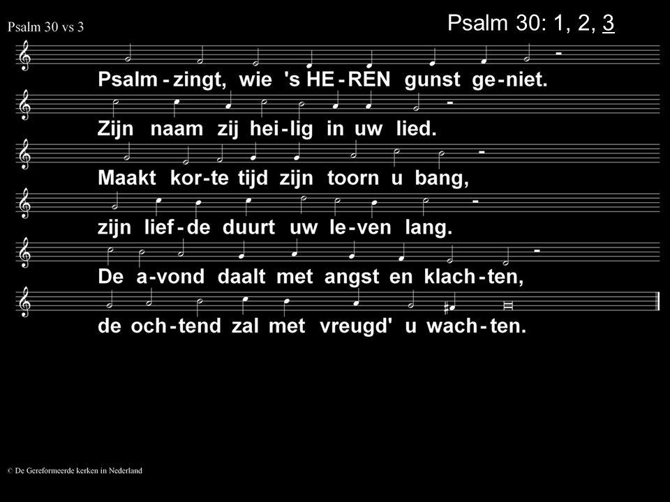 Psalm 30: 1, 2, 3