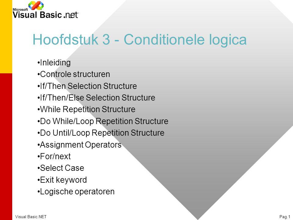 Hoofdstuk 3 - Conditionele logica