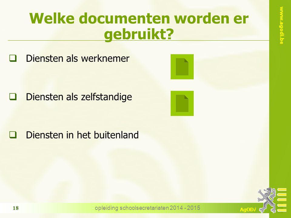 Welke documenten worden er gebruikt