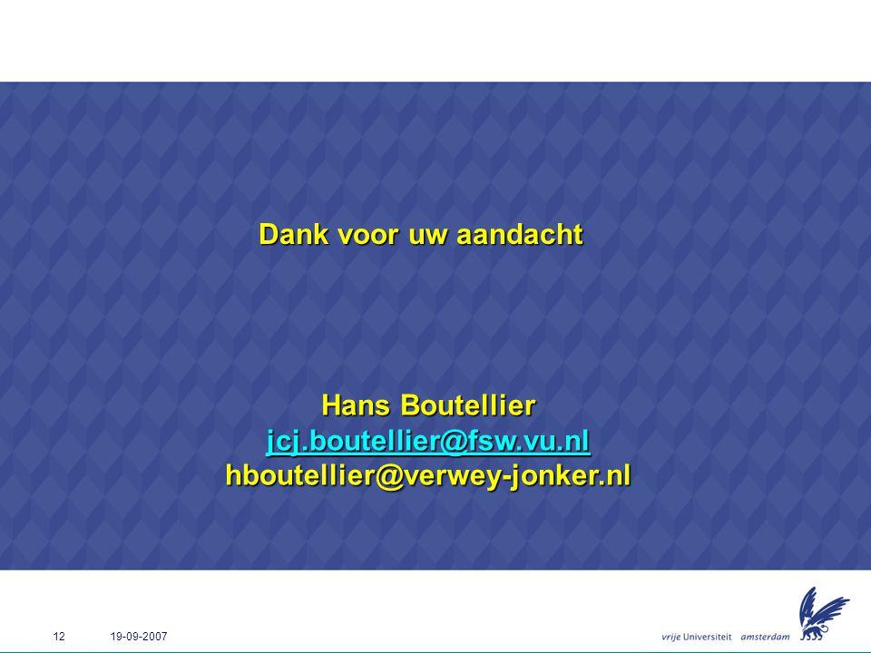 Hans Boutellier jcj.boutellier@fsw.vu.nl hboutellier@verwey-jonker.nl