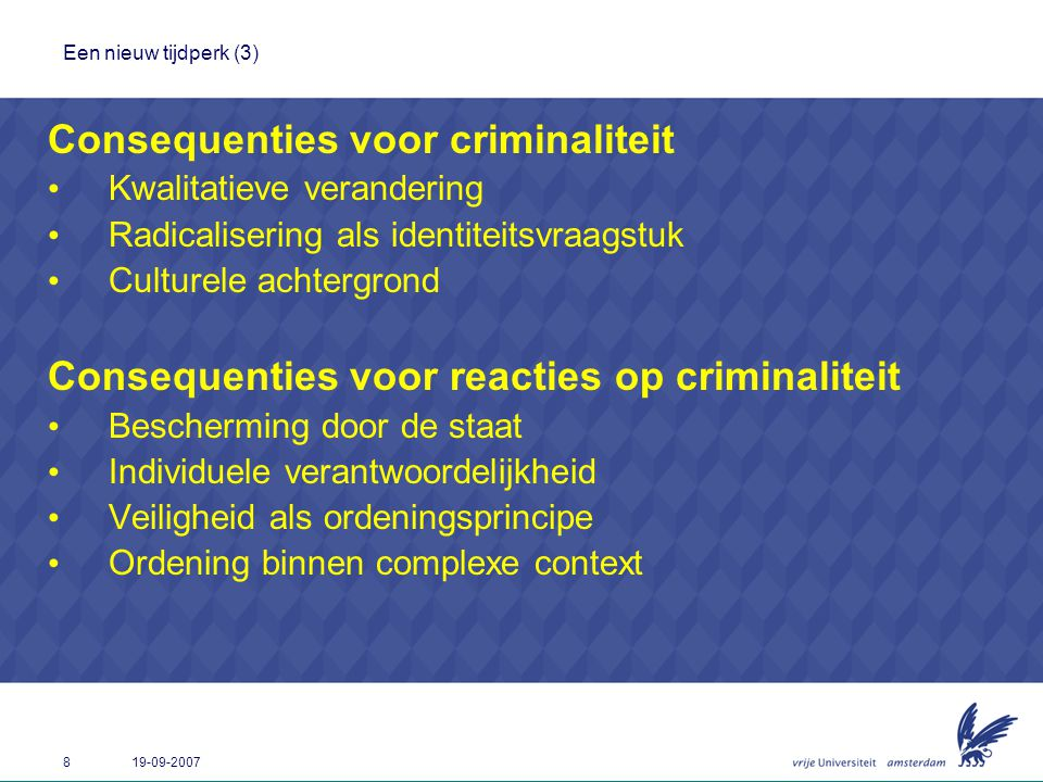 Consequenties voor criminaliteit