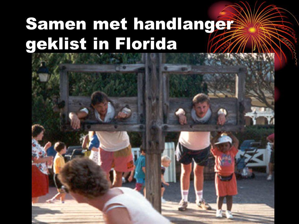 Samen met handlanger geklist in Florida