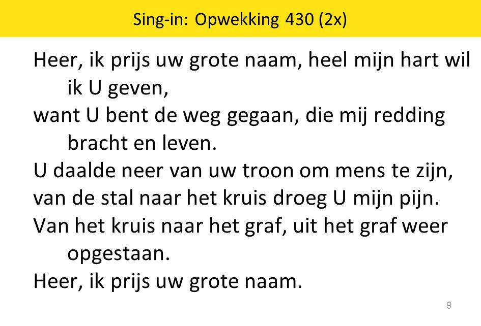 Sing-in: Opwekking 430 (2x)