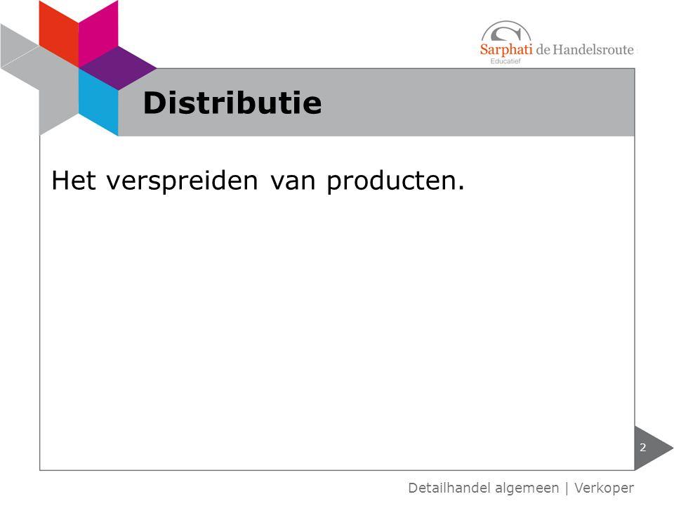 Distributie Het verspreiden van producten.