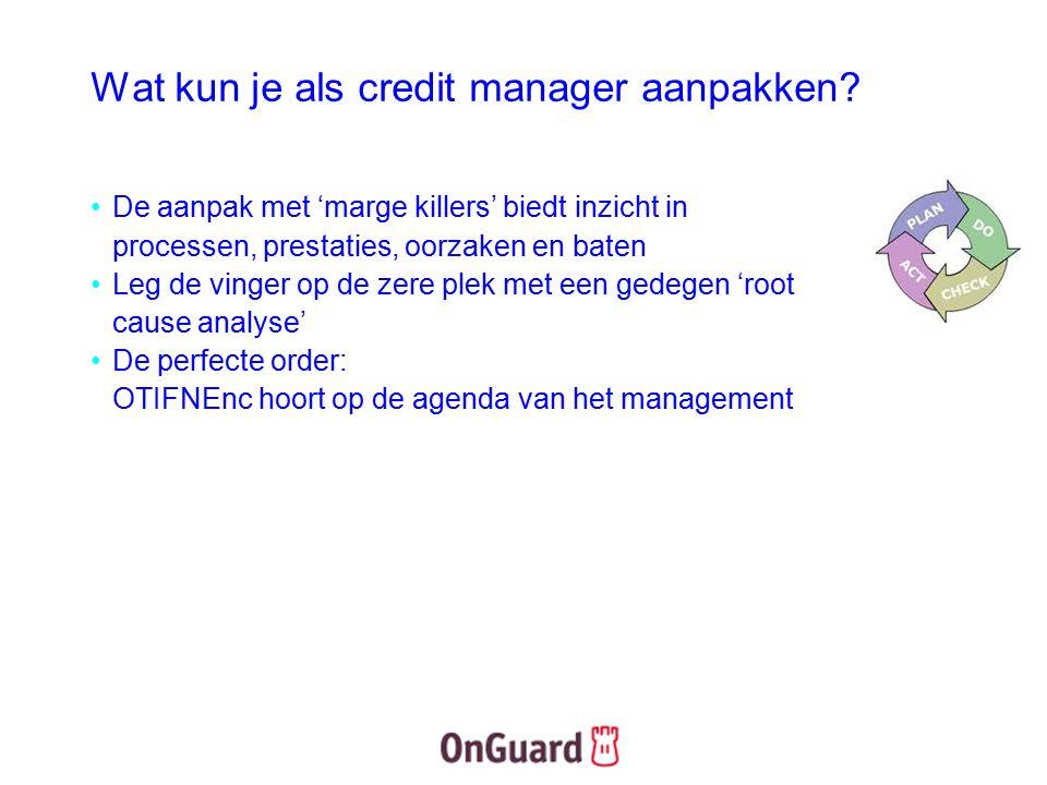 Wat kun je als credit manager aanpakken