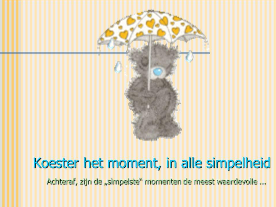 """Koester het moment, in alle simpelheid Achteraf, zijn de """"simpelste momenten de meest waardevolle ..."""