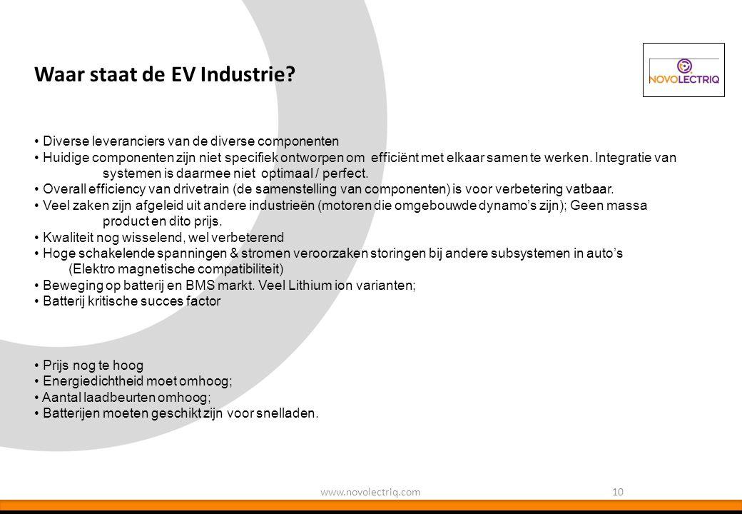 Waar staat de EV Industrie