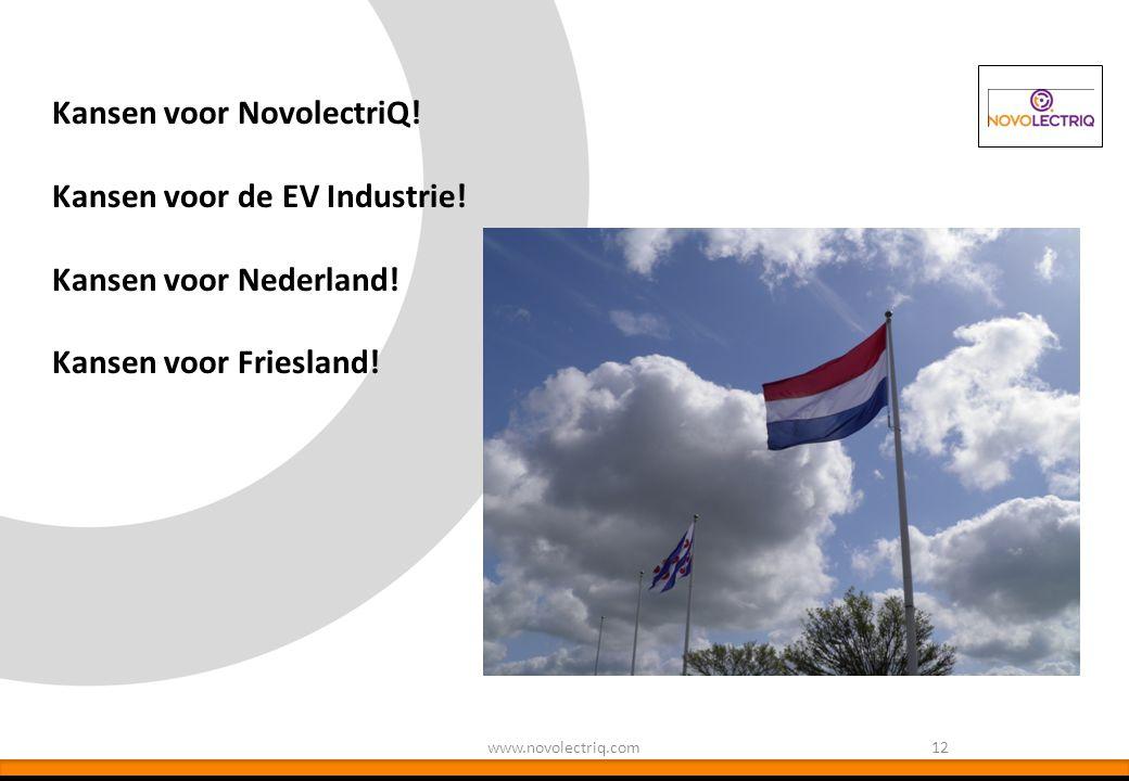 Kansen voor NovolectriQ! Kansen voor de EV Industrie!