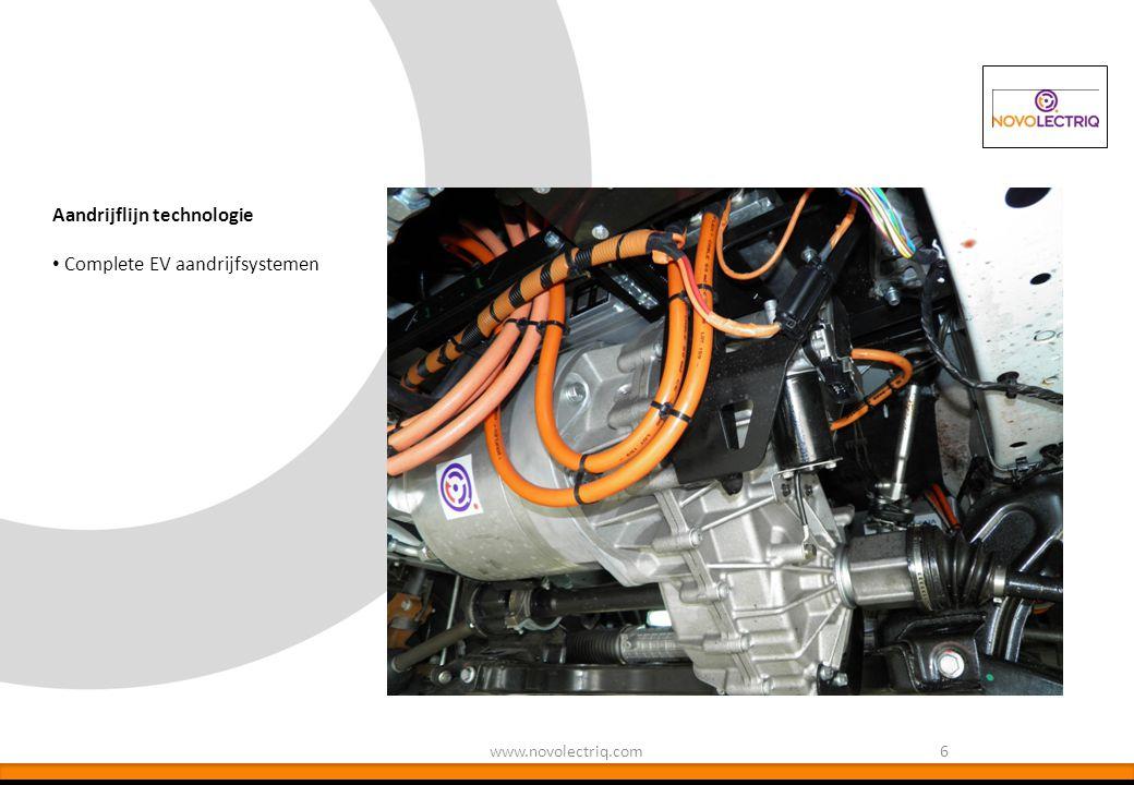 Aandrijflijn technologie Complete EV aandrijfsystemen
