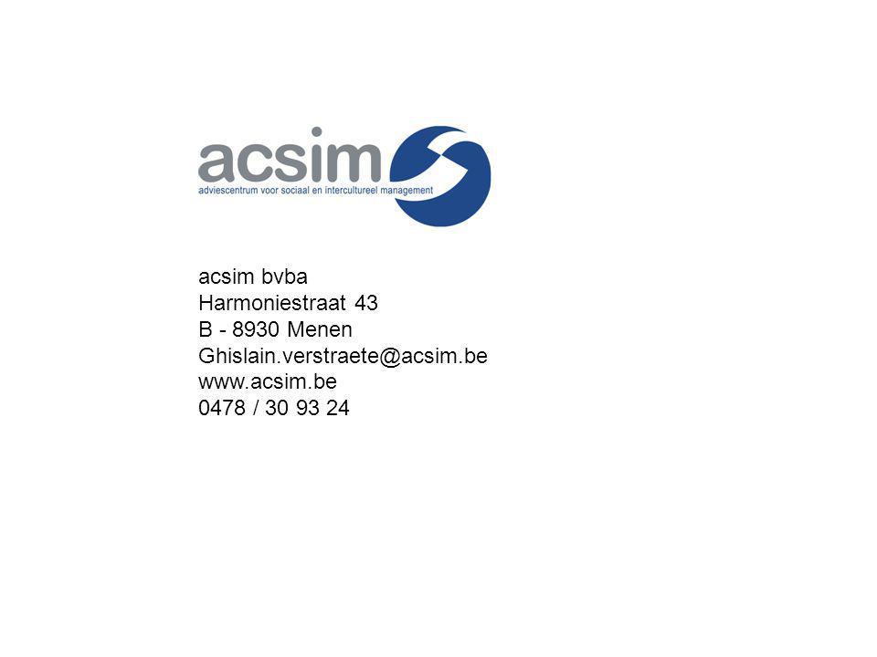 acsim bvba Harmoniestraat 43. B - 8930 Menen. Ghislain.verstraete@acsim.be.